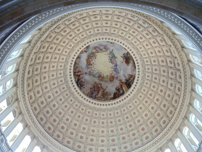 interior view of the u s capitol dome looking upwards breathtaking